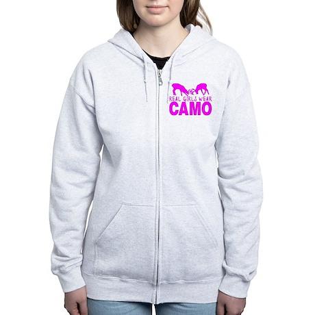 REAL GIRLS WEAR CAMO Women's Zip Hoodie
