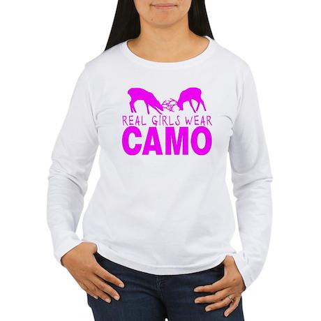 REAL GIRLS WEAR CAMO Women's Long Sleeve T-Shirt