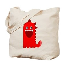 Red Monster Tote Bag