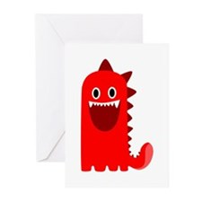 Red Monster Greeting Cards (Pk of 20)