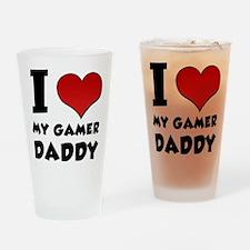 I Love My Gamer Daddy Drinking Glass