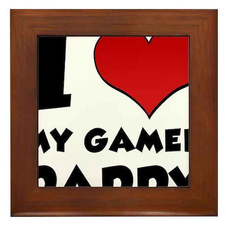 I Love My Gamer Daddy Framed Tile