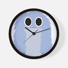Blue Furry Monster Wall Clock