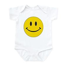Big Yellow Happy Face Infant Bodysuit