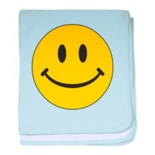Big Yellow Happy Face baby blanket