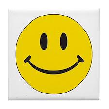 Big Yellow Happy Face Tile Coaster