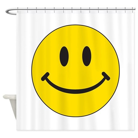 Big Yellow Happy Face Shower Curtain