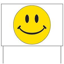 Big Yellow Happy Face Yard Sign
