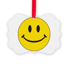 Big Yellow Happy Face Picture Ornament