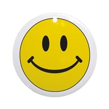 Big Yellow Happy Face Ornament (Round)