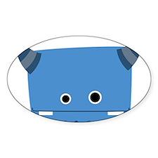 Blue Horned Monster Decal