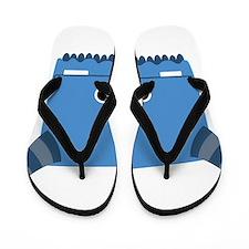 Blue Horned Monster Flip Flops