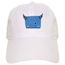 Blue Horned Monster Baseball Cap