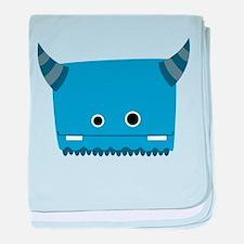 Blue Horned Monster baby blanket