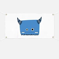 Blue Horned Monster Banner