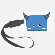 Blue Horned Monster Luggage Tag