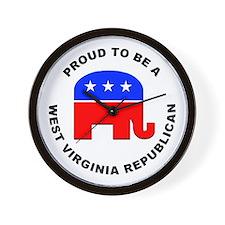 West Virginia Republican Pride Wall Clock