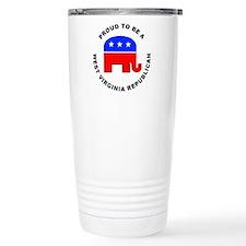 West Virginia Republican Pride Travel Mug