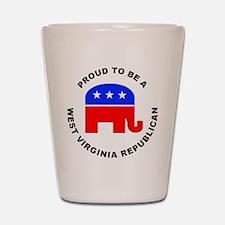 West Virginia Republican Pride Shot Glass