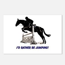 Id Rather Be Jumping Horse Postcards (Package of 8