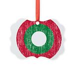 Maldives Roundel Picture Ornament