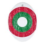 Maldives Roundel Ornament (Oval)