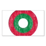 Maldives Roundel Sticker (Rectangle 50 pk)