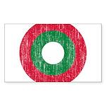 Maldives Roundel Sticker (Rectangle 10 pk)