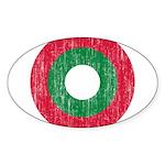 Maldives Roundel Sticker (Oval 50 pk)
