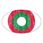 Maldives Roundel Sticker (Oval 10 pk)