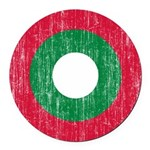 Maldives Roundel Round Car Magnet
