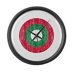 Maldives Roundel Large Wall Clock