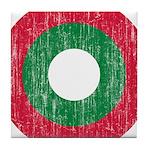 Maldives Roundel Tile Coaster