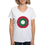 Maldives Roundel Women's V-Neck T-Shirt