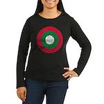 Maldives Roundel Women's Long Sleeve Dark T-Shirt