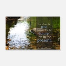 LDS Quotes- Learn from the past... Car Magnet 20 x