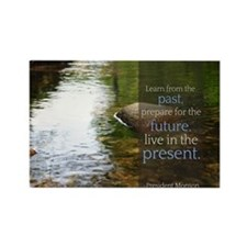 LDS Quotes- Learn from the past... Rectangle Magne