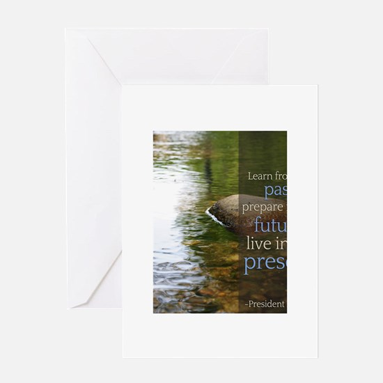LDS Quotes- Learn from the past... Greeting Card