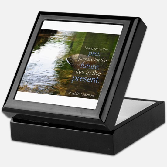 LDS Quotes- Learn from the past... Keepsake Box