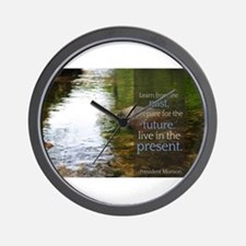 LDS Quotes- Learn from the past... Wall Clock