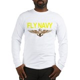 Fly navy Long Sleeve T-shirts
