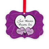 2012 wedding ornaments Picture Frame Ornaments