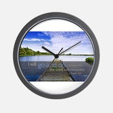 LDS Quotes- I will go and do... Wall Clock