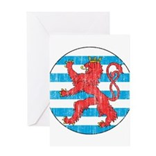 Luxembourg Roundel Greeting Card