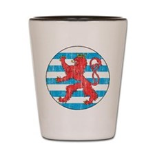 Luxembourg Roundel Shot Glass