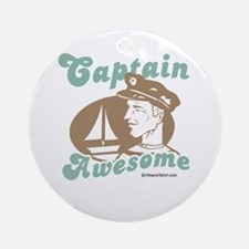 Captain Awesome -  Ornament (Round)