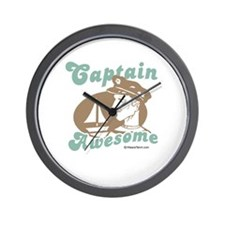 Captain Awesome -  Wall Clock