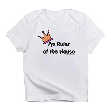 rulerofthehouse-w-crown.png Infant T-Shirt