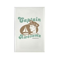 Captain Awesome - Rectangle Magnet