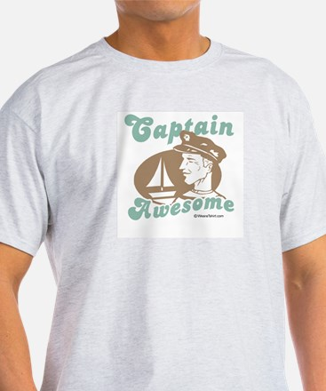 Captain Awesome -  Ash Grey T-Shirt